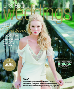 One Love Design in the Charleston Weddings 2015 Spring Issue
